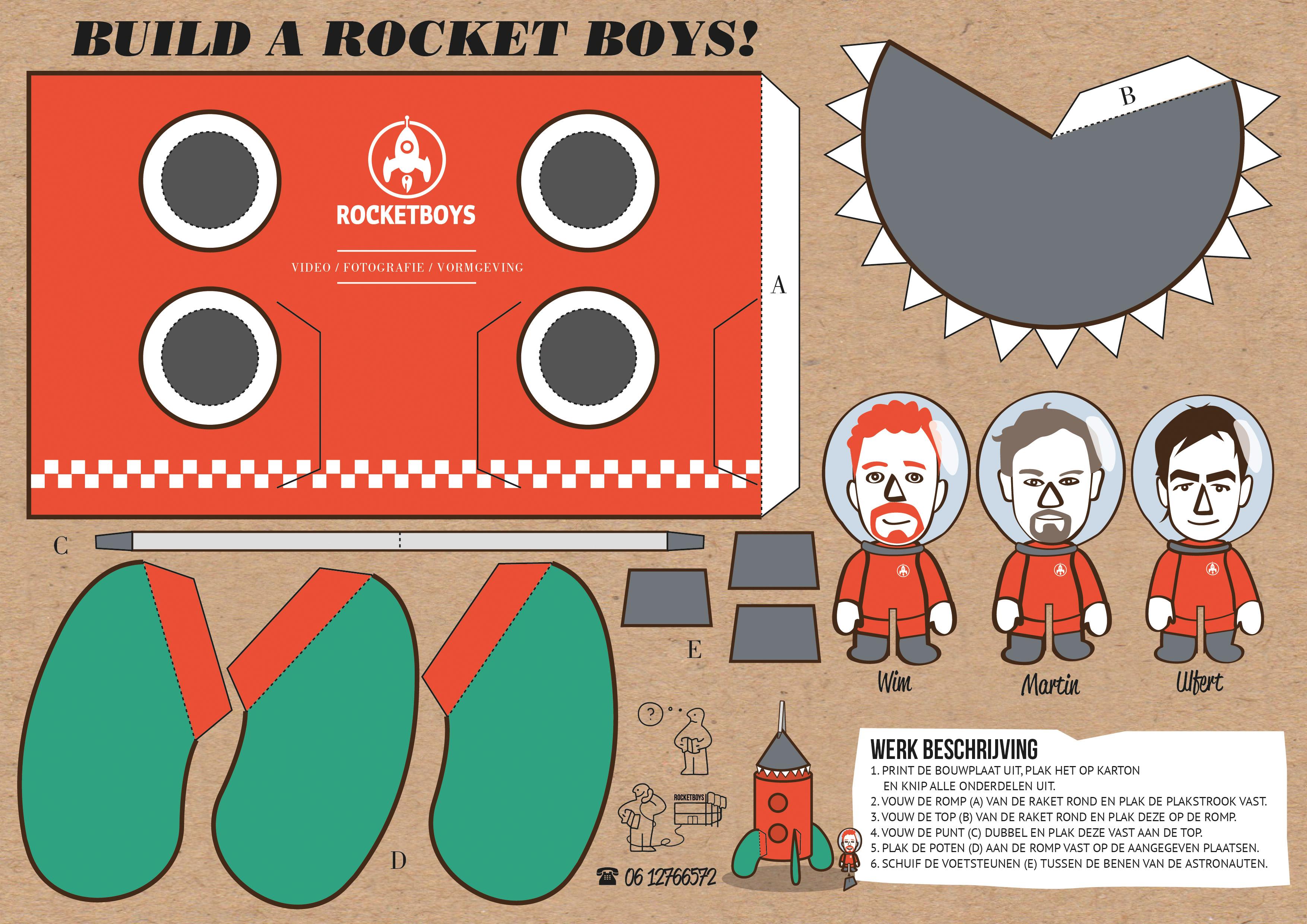 Rocketboys-Bouwplaat-raket