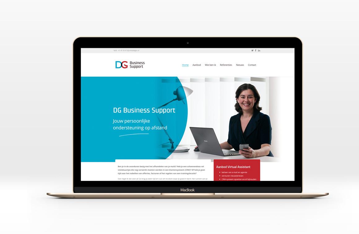 macbook met website DGBS